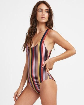 3 Talum Striped One Piece Swimsuit  X107TRTO RVCA