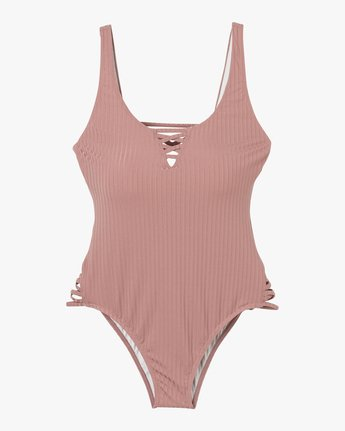 5 Rockaway Ribbed One Piece Swimsuit Pink X109QRRO RVCA