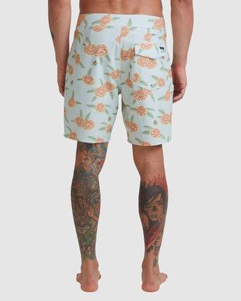 "Luke Pelletier Floral 18"" - Recycled Swim Shorts for Men  X1BSRCRVS1"