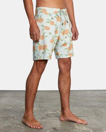 """5 Luke Pelletier Floral 18"""" - Short de bain en matière recyclée pour Homme  X1BSRCRVS1 RVCA"""