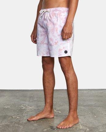 4 Manic Elastic - Short de bain en matière recyclée pour Homme Blanc X1VORHRVS1 RVCA