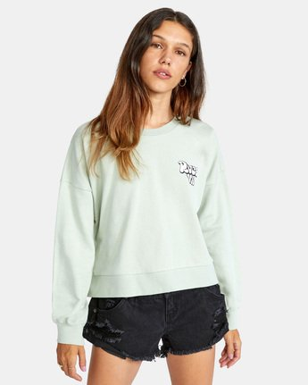 Bubbly RVCA Pullover - Cropped Sweatshirt for Women  X3CRRARVS1