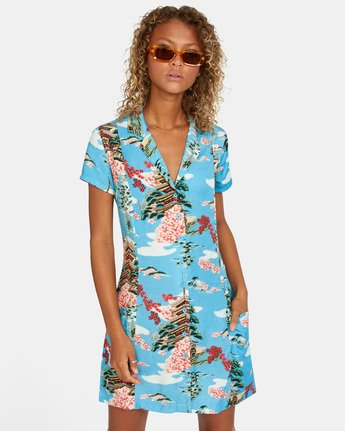 Island Time - Short Sleeve Dress for Women  X3DRRFRVS1