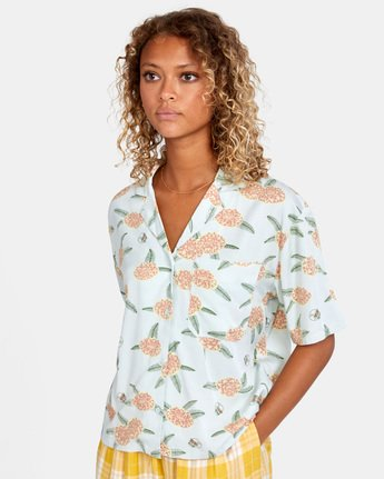 Luke P Floral - Short Sleeve Shirt for Women  X3SHRCRVS1