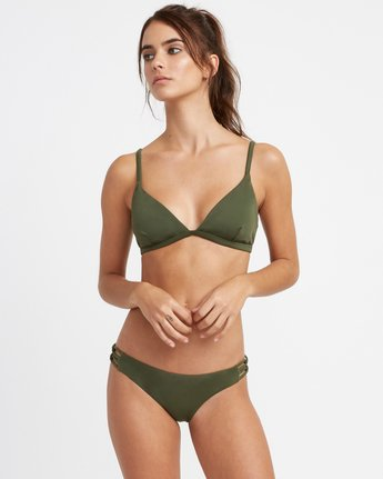 2 Solid Medium Side Loop Bikini Bottoms Green XB03TRSM RVCA