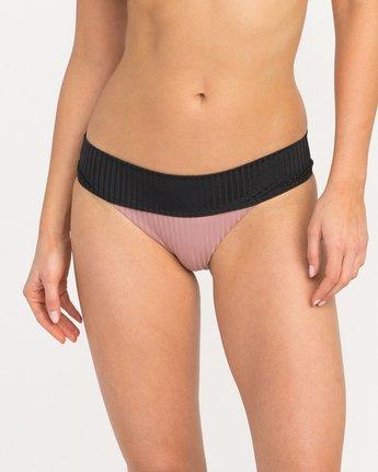 2 Rockaway Ribbed Medium Bikini Bottoms Pink XB08QRRM RVCA