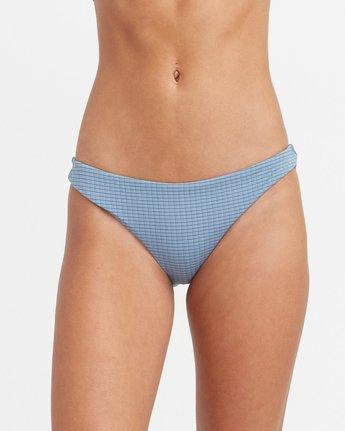 3 Beau Grid Cheeky Bikini Bottoms Blue XB14TRBC RVCA