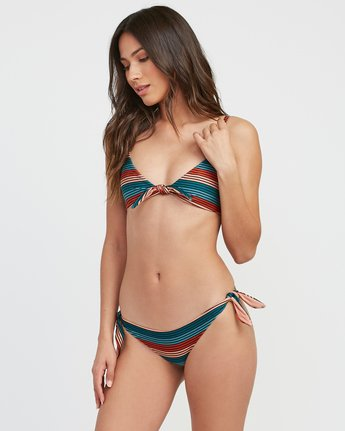 2 Frame Striped Cheeky Bikini Bottoms Multicolor XB16SRFC RVCA