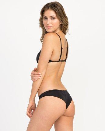 1 Solid Shimmer Cheeky Bikini Bottoms Black XB20QRSC RVCA