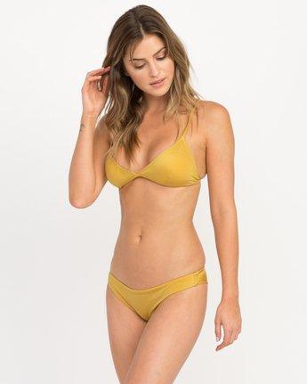 2 Solid Shimmer Cheeky Bikini Bottoms Multicolor XB20QRSC RVCA