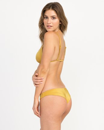 1 Solid Shimmer Cheeky Bikini Bottoms Multicolor XB20QRSC RVCA