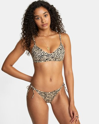 4 ZEBRA MEDIUM BIKINI BOTTOM Purple XB302RZM RVCA