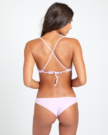 4 SOLID CHEEKY BIKINI BOTTOMS Purple XB431RSC RVCA