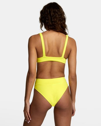 0 SOLID HIGH RISE BIKINI BOTTOMS Yellow XB441RSH RVCA