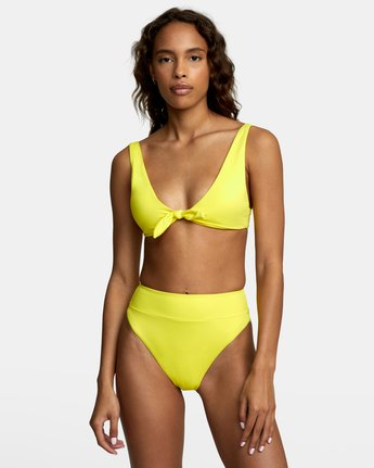2 SOLID HIGH RISE BIKINI BOTTOMS Yellow XB441RSH RVCA