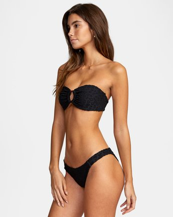 4 WoWild Medium Bikini Bottom Black XB542RWM RVCA