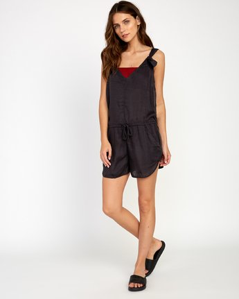3 Driftwood Cover-Up Romper Black XC01URDR RVCA