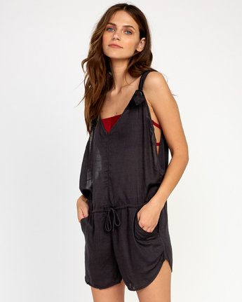 0 Driftwood Cover-Up Romper Black XC01URDR RVCA