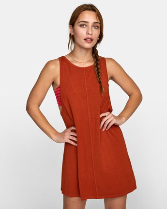 0 AMARA DRESS Orange XC032RAM RVCA