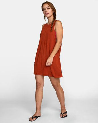 1 AMARA DRESS Orange XC032RAM RVCA