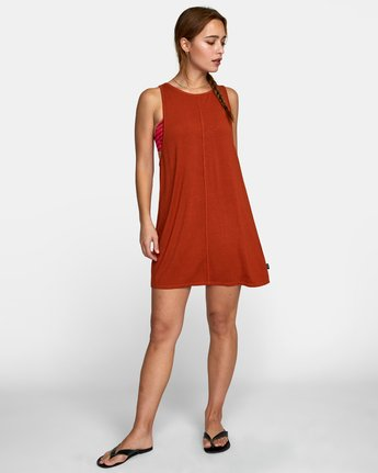 2 AMARA DRESS Orange XC032RAM RVCA