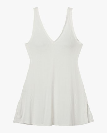 5 Leela Ribbed Cover-Up Dress White XC03PRLE RVCA