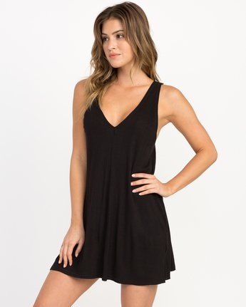 0 Leela Ribbed Cover-Up Dress  XC03PRLE RVCA
