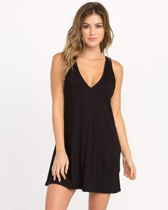 1 Leela Ribbed Cover-Up Dress  XC03PRLE RVCA