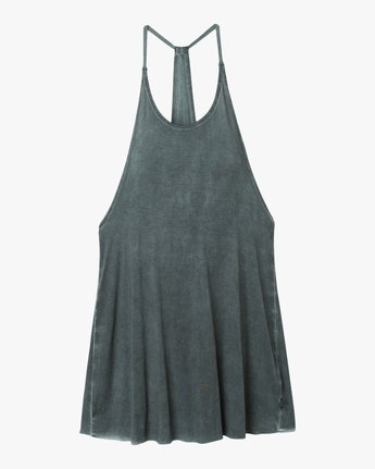 4 Backside Tank Dress Grey XC03TRBC RVCA