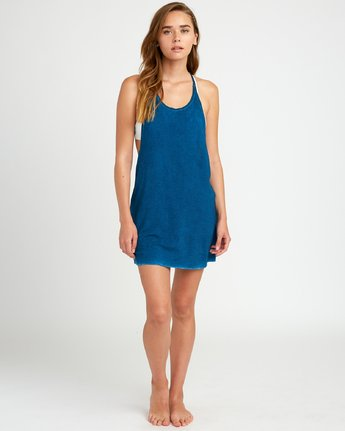 4 Backside Tank Dress Blue XC03TRBC RVCA