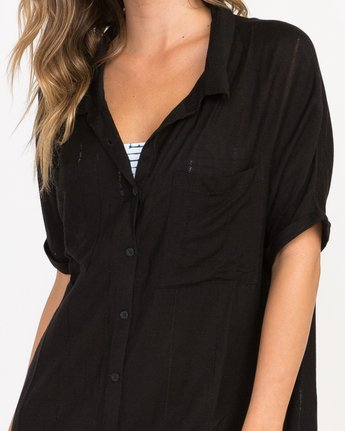 3 And Then Tunic Shirt Dress Black XC05PRAN RVCA