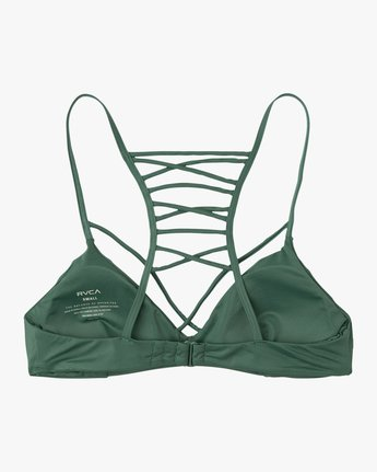 6 Solid Strappy Bralette Bikini Top  XT01NRSB RVCA