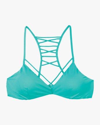 5 Solid Strappy Bralette Bikini Top Blue XT01NRSB RVCA