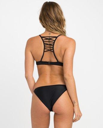 2 Solid Strappy Bralette Bikini Top Black XT01NRSB RVCA