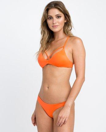 1 Solid Strappy Bralette Bikini Top Red XT01NRSB RVCA