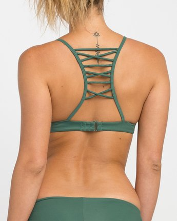 3 Solid Strappy Bralette Bikini Top  XT01NRSB RVCA