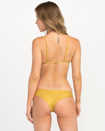2 Solid Shimmer Triangle Bikini Top Multicolor XT01QRST RVCA