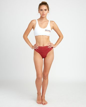 4 Solid Bikini Crop Top White XT01TRCT RVCA