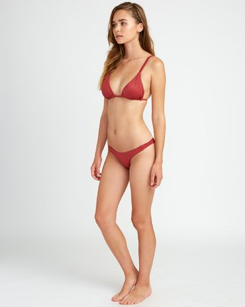 4 Solid Tri Bikini Top Red XT01URSO RVCA