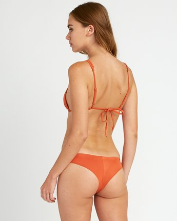 2 Solid Tri Bikini Top Yellow XT01URSO RVCA