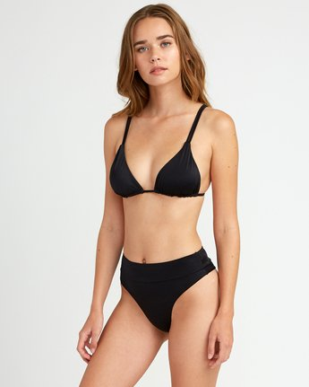 1 Solid Tri Bikini Top Black XT01URSO RVCA