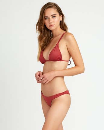 1 Solid Tri Bikini Top Red XT01URSO RVCA