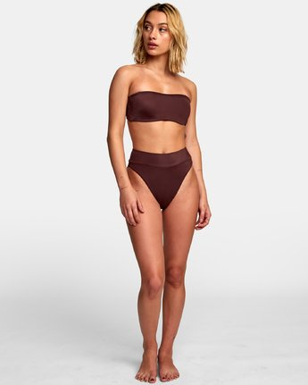 4 Solid Bandeau Bikini Top Brown XT01WRSB RVCA