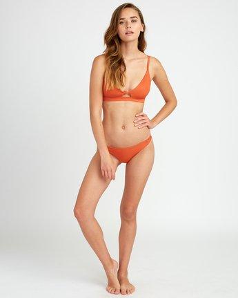 5 Solid Knot Bralette Bikini Top Yellow XT02URST RVCA