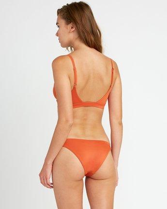 3 Solid Knot Bralette Bikini Top Yellow XT02URST RVCA