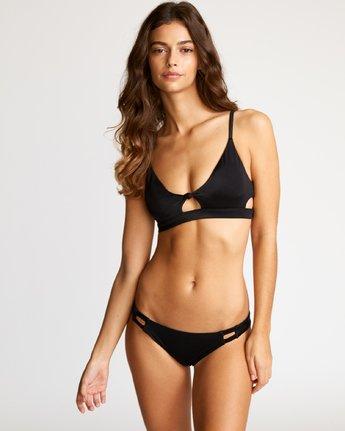 0 Solid Knot Bralette Bikini Top Black XT02URST RVCA