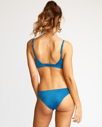 3 Solid Knot Bralette Bikini Top Blue XT02URST RVCA