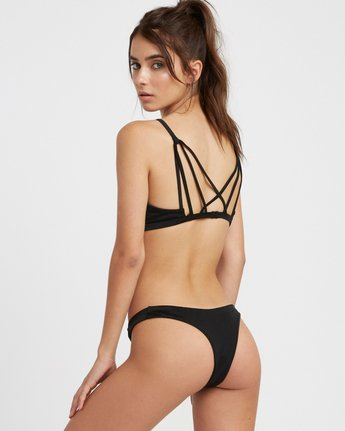 2 Solid Bralette Bikini Top Black XT03TRSB RVCA