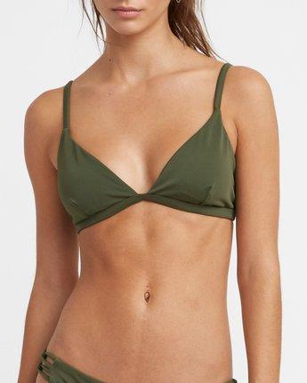 3 Solid Bralette Bikini Top Green XT03TRSB RVCA