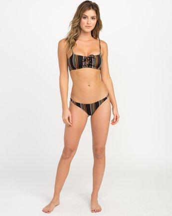4 Side Line Striped Bandeau Bikini Top Black XT05QRSB RVCA
